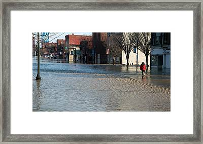 Flooded Street Framed Print by Jim West