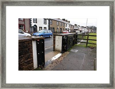 Floodgate In Appleby Framed Print by Mark Williamson