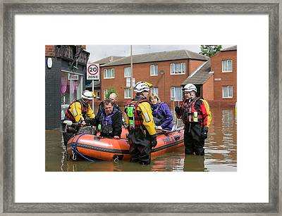 Flooding Framed Print by Ashley Cooper