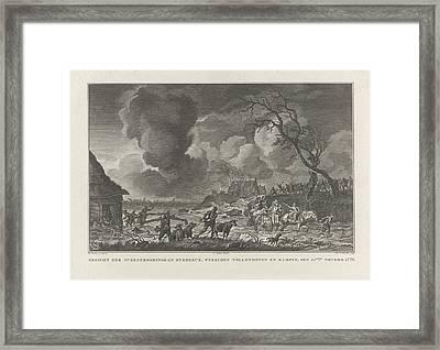 Flooding Between Vollenhove And Kampen, 1776 The Netherlands Framed Print
