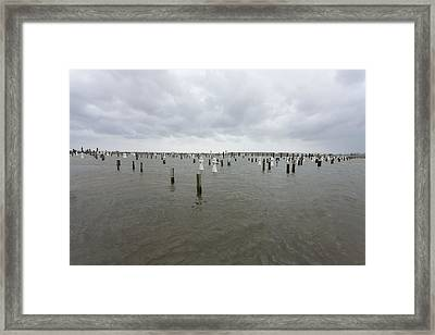 Flooding Due To Hurricane Isaac Framed Print