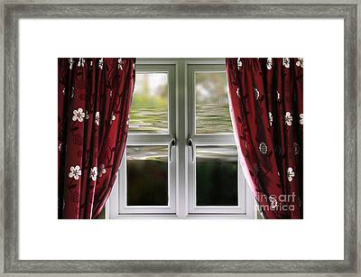 Flooding House Up To Window Framed Print