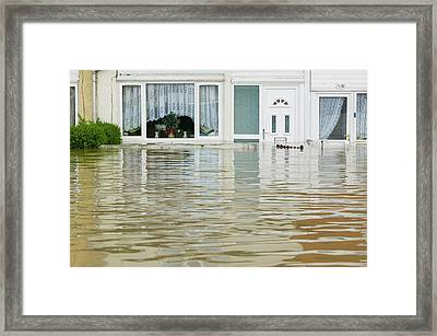 Flooding In Toll Bar Framed Print by Ashley Cooper
