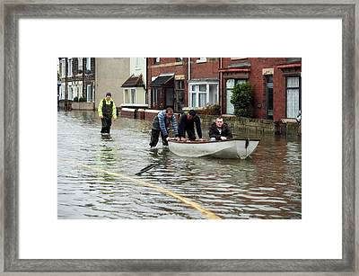Flooding Framed Print