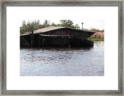 Flooding Of Stores And Shops In Bangkok Thailand - 01137 Framed Print