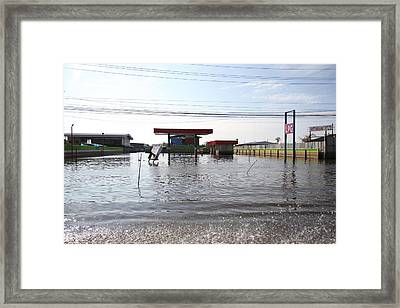 Flooding Of Stores And Shops In Bangkok Thailand - 01139 Framed Print