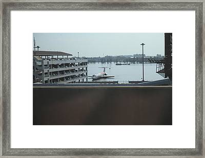 Flooding Of The Airport In Bangkok Thailand - 01133 Framed Print