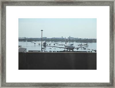 Flooding Of The Airport In Bangkok Thailand - 01135 Framed Print by DC Photographer