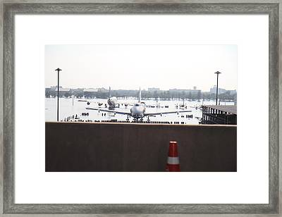 Flooding Of The Airport In Bangkok Thailand - 01136 Framed Print by DC Photographer