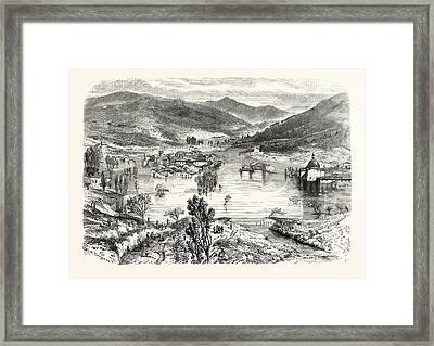 Flooding Of The City Of San Stefano In Tuscany Framed Print