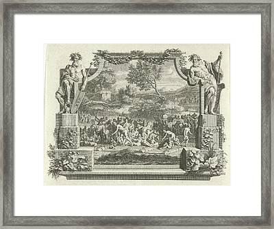 Flooding Of The Rhine And Waal, Adolf Van Der Laan Framed Print