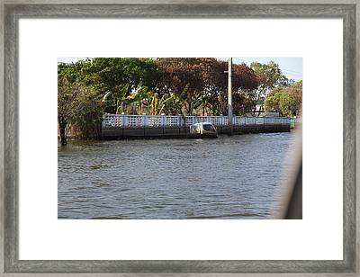 Flooding Of The Streets Of Bangkok Thailand - 01132 Framed Print by DC Photographer