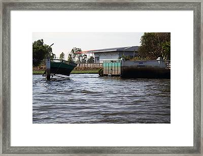 Flooding Of The Streets Of Bangkok Thailand - 01133 Framed Print