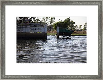 Flooding Of The Streets Of Bangkok Thailand - 01134 Framed Print by DC Photographer