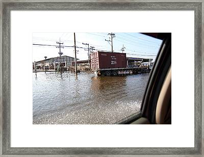 Flooding Of The Streets Of Bangkok Thailand - 01135 Framed Print by DC Photographer