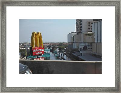Flooding Of The Streets Of Bangkok Thailand - 01138 Framed Print by DC Photographer