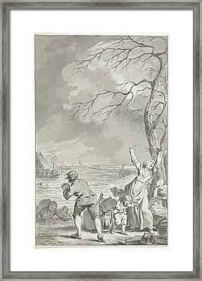 Flooding Rijndijk In Gelderland, 1770, The Netherlands Framed Print