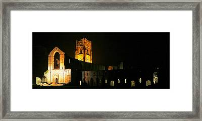 Floodlit Fountains Abbey Framed Print