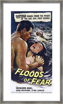 Floods Of Fear, Us Poster, From Left Framed Print by Everett