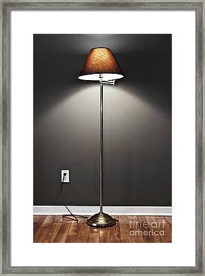 Floor Lamp Framed Print by Elena Elisseeva