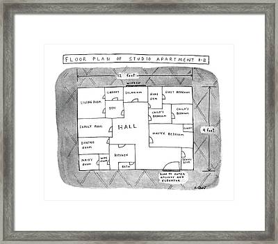 Floor Plan Of Studio Apartment R-b Framed Print