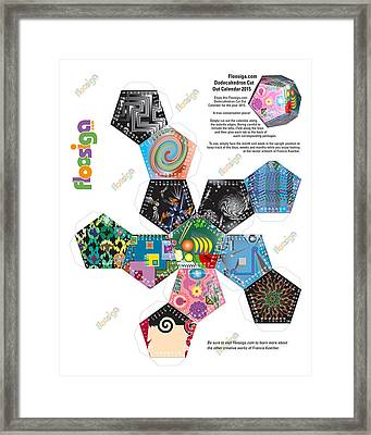 Floosiga Dodecahedron Cut Out Calendar 2015 Framed Print by Francis Koerber