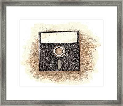 Floppy Disk Framed Print