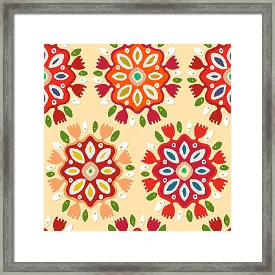 Flor Framed Print by Sharon Turner