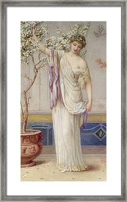 Flora, 1873 Framed Print