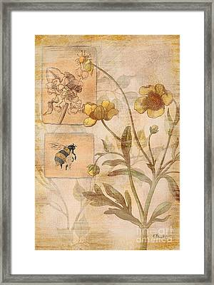 Flora Bumble Bee Framed Print by Paul Brent
