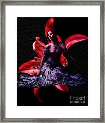 Flora -color Version- Framed Print