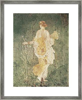 Flora, Goddess Of Spring. 1st C. Bc Framed Print by Everett