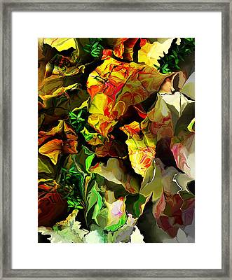 Framed Print featuring the digital art Floral 082114 by David Lane