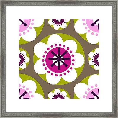 Framed Print featuring the digital art Floral 1  by Lisa Noneman