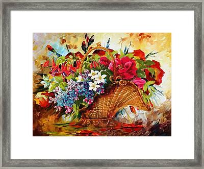 Floral 11 Framed Print by Mahnoor Shah