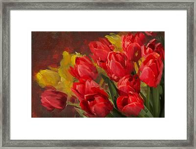 Floral 12 Framed Print by Mahnoor Shah