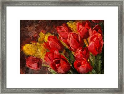 Floral 12b Framed Print by Mahnoor Shah