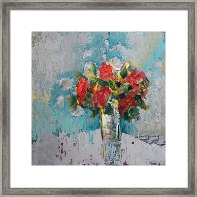 Floral 13 Framed Print by Mahnoor Shah