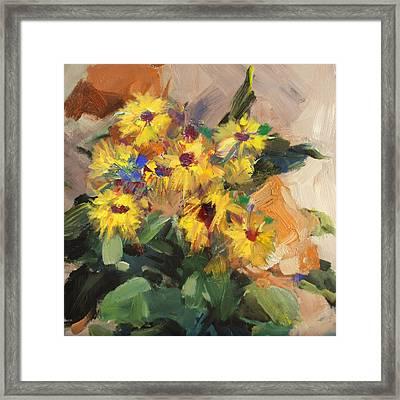 Floral 15 Framed Print by Mahnoor Shah