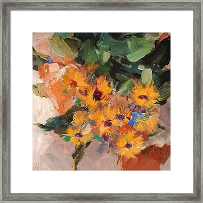 Floral 15b Framed Print by Mahnoor Shah