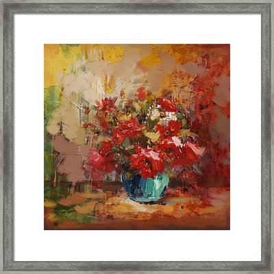 Floral 16b Framed Print by Mahnoor Shah