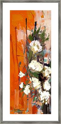 Floral 17b Framed Print by Mahnoor Shah