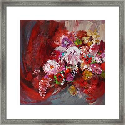 Floral 18 Framed Print by Mahnoor Shah