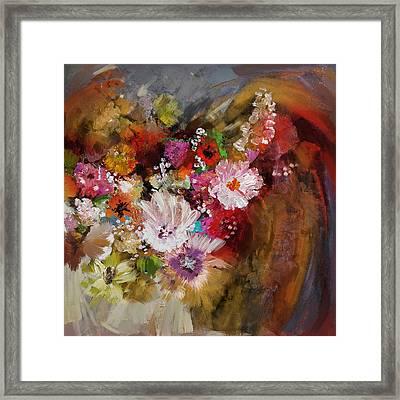 Floral 18b Framed Print by Mahnoor Shah
