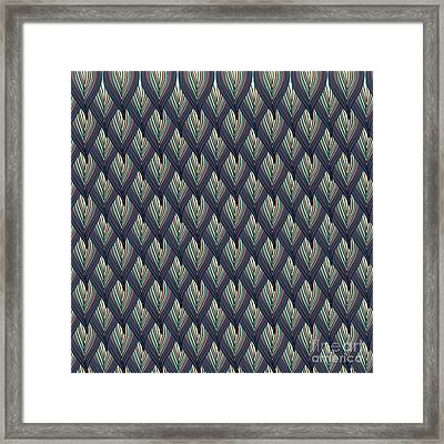 Floral Abstract Background Framed Print