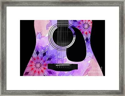 Floral Abstract Guitar 18 Framed Print