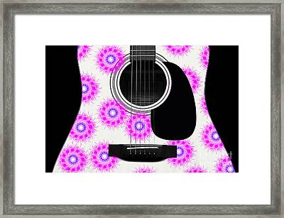 Floral Abstract Guitar 20 Framed Print