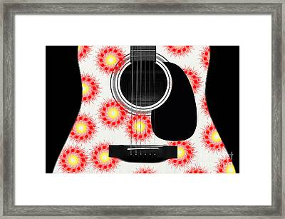 Floral Abstract Guitar 21 Framed Print