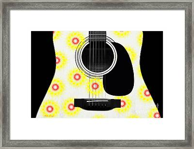 Floral Abstract Guitar 22 Framed Print