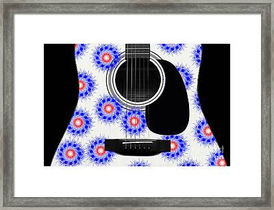 Floral Abstract Guitar 23 Framed Print